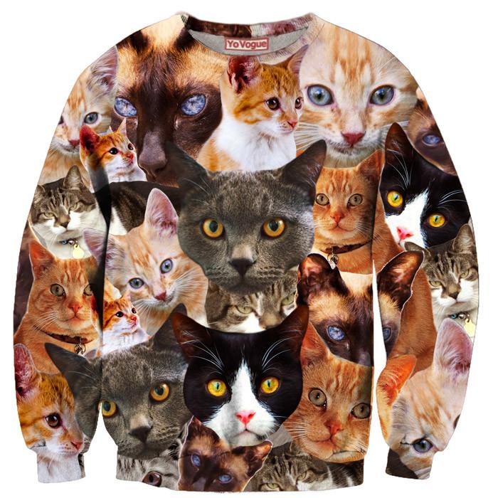 Cat kitten kitty sweatshirt – yo vogue clothing