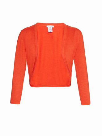 cardigan cropped silk wool red sweater