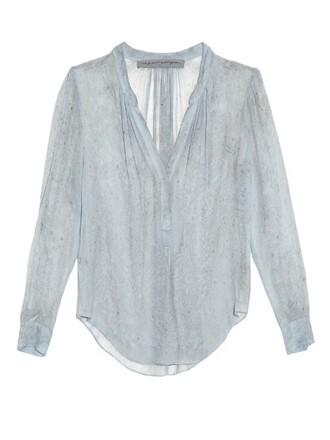 blouse chiffon blouse chiffon silk light blue light blue top
