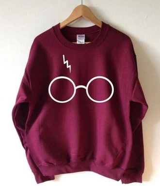 sweater harry potter red