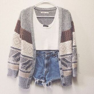 sweater fall outfits indie boho hippie hipster jacket cardigan