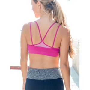 Fuchsia Double Layer Sports / Yoga Bra