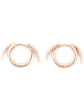 women earrings hoop earrings purple pink jewels