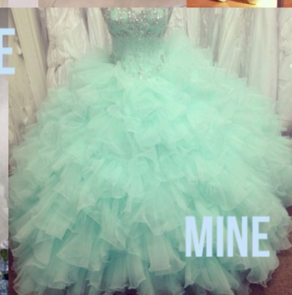 teal torquioise dress quinceanera dress mint