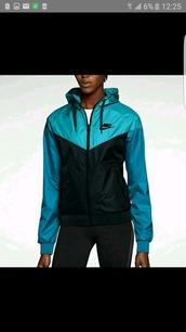 jacket,nike windrunner,nike windbreaker,black,blue,nike,sportswear