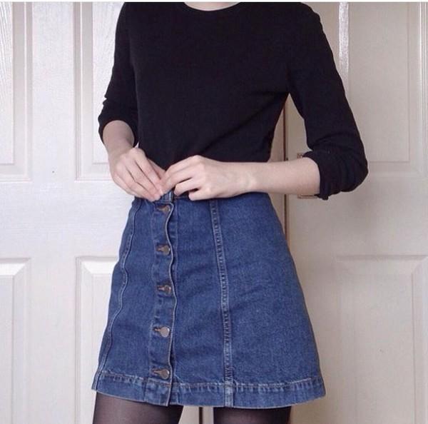 DENIM SKIRT WITH POCKETS - Skirts - Woman - COLLECTION AW15   ZARA ...