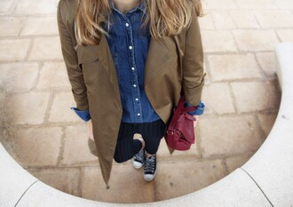 bag my daily style coat shirt