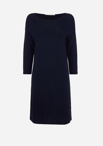 dress sweater dress oui navy dress