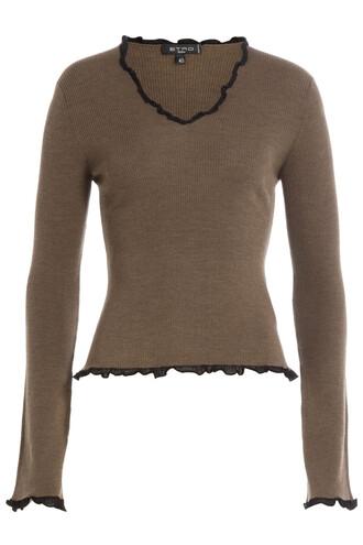 top wool brown