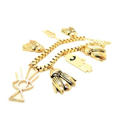 Hamsa Hand & Beetles Charm Bracelet · WANDERLUSTINY · Online Store Powered by Storenvy
