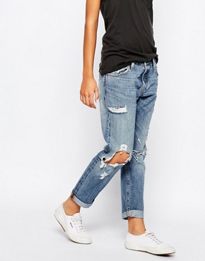 Levis 501 Ct Destroyed Boyfriend Jeans at asos.com