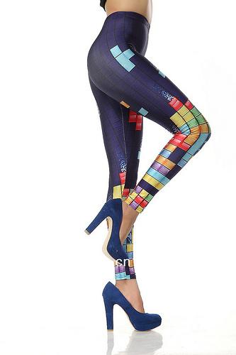 Silk Milk Tetris Stretch Spandex Leggings Galaxy Black Gamer Geek Gameboy Arcade   eBay