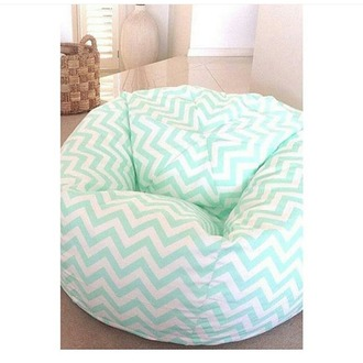 home accessory bean bag chevron mint