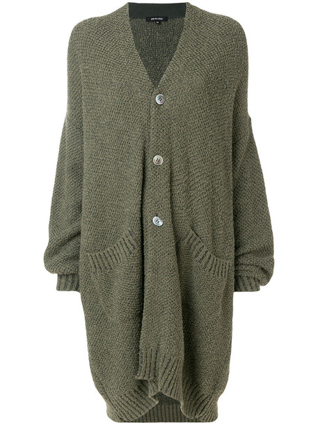 Pas De Calais cardigan oversized cardigan cardigan oversized women cotton green sweater