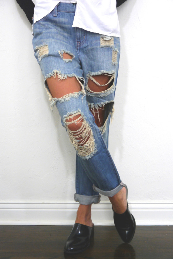 jeans ripped jeans boyfriend jeans