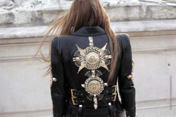 buckles jacket leather jacket leather gold belted