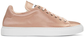sneakers pink satin shoes