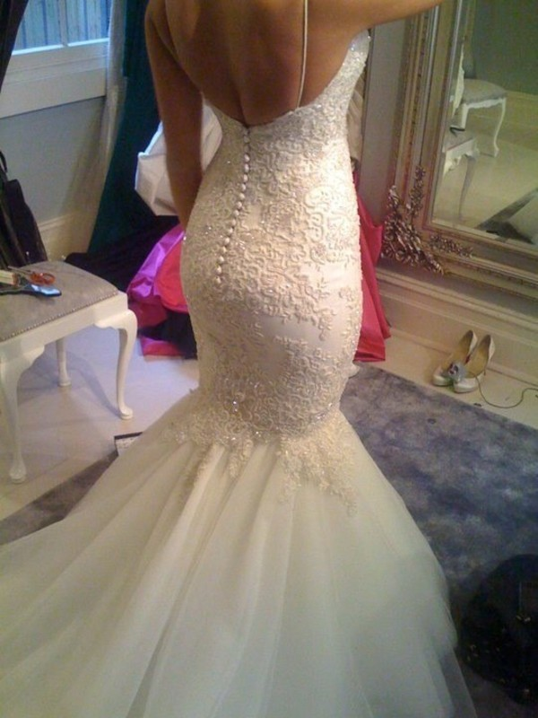 dress mermaid wedding dress mermaid wedding dress mermaid prom dress wedding dress backless white dress long dress wedding lace white