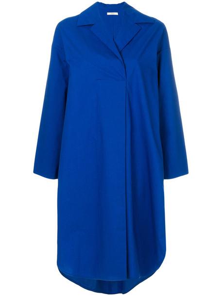 Odeeh dress shirt dress women cotton blue