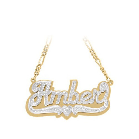gold sequins jewels custom name necklace
