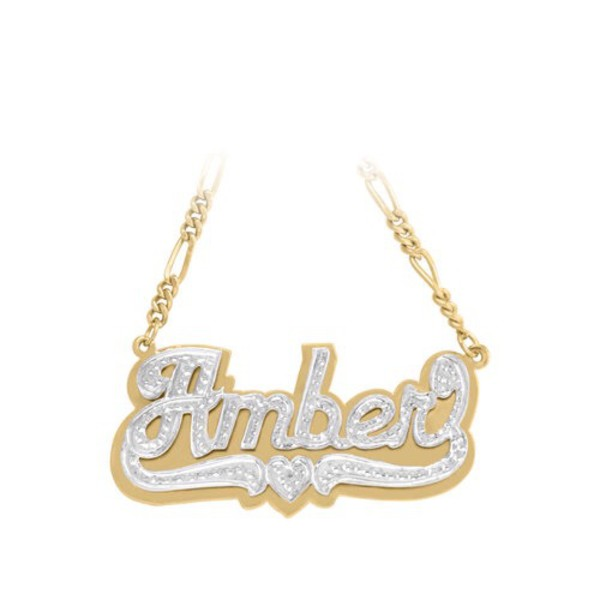 jewels gold sequins custom name necklace