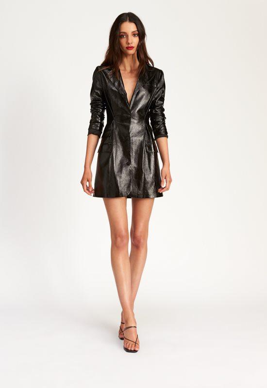 All Night Long Blazer Dress - BLACK - Lioness