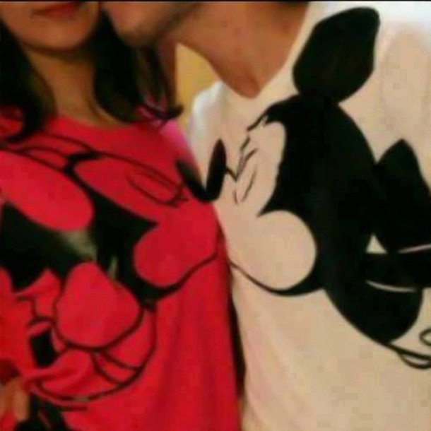 Mickey And Minnie Couples Shirts T-shirt: mickey...