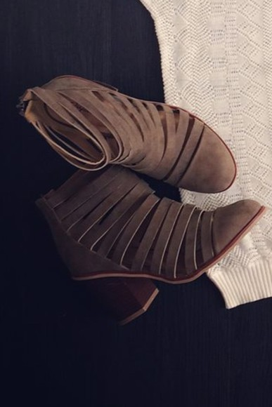shoes wedges brown wedges booties