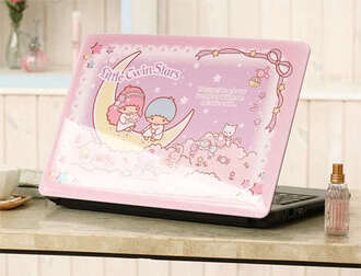phone cover little twin stars laptop pastel pink computer tech technology kawaii computer case kawaii accessory computer accessory