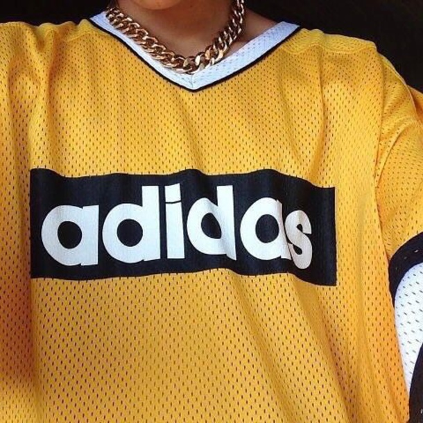 t-shirt adidas football jersey yellow white black