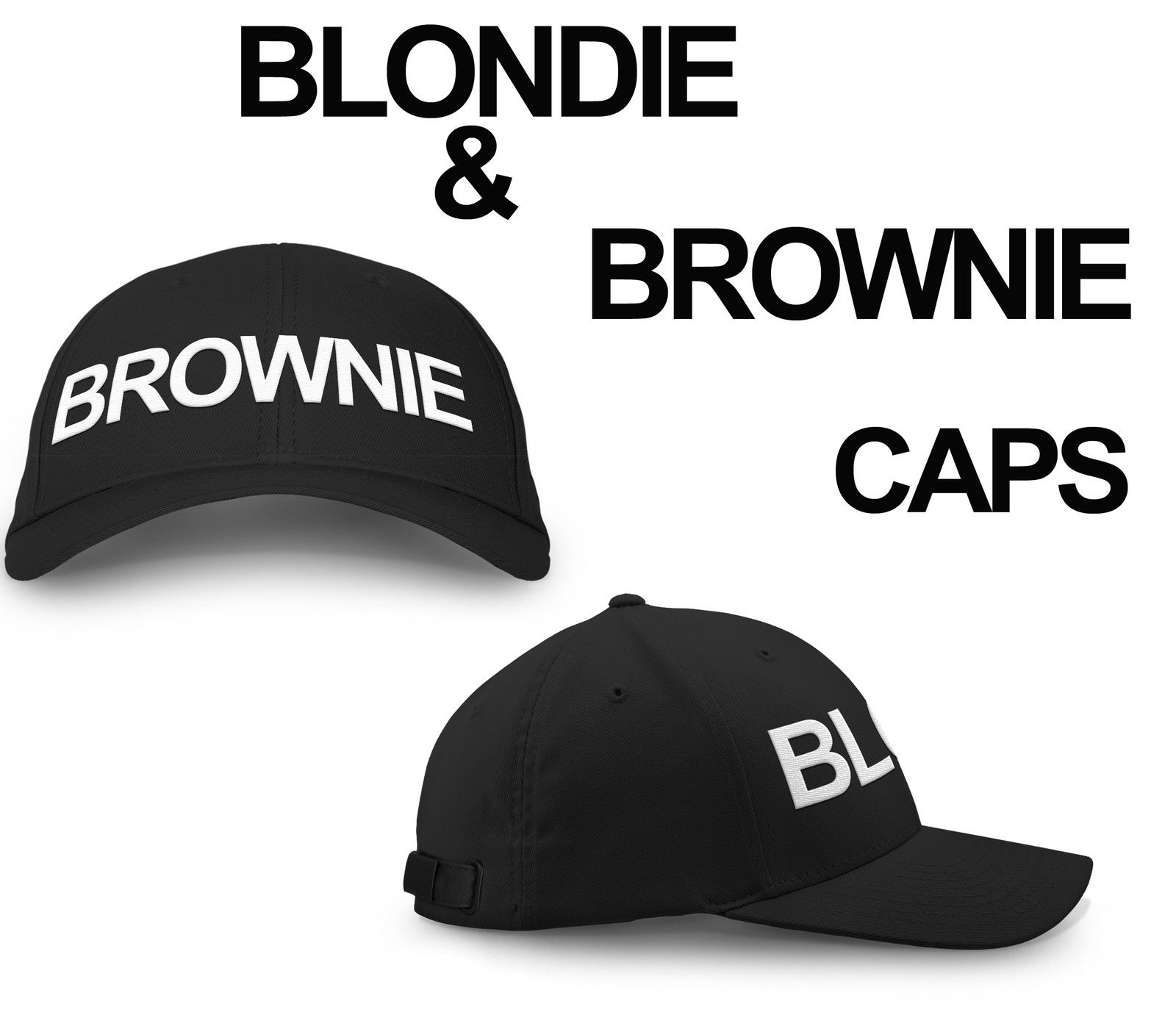 41b47ee4f BLONDIE BROWNIE Snapback Pair Fashion Printed Snapback Caps Hip-Hop Hats  Rapper