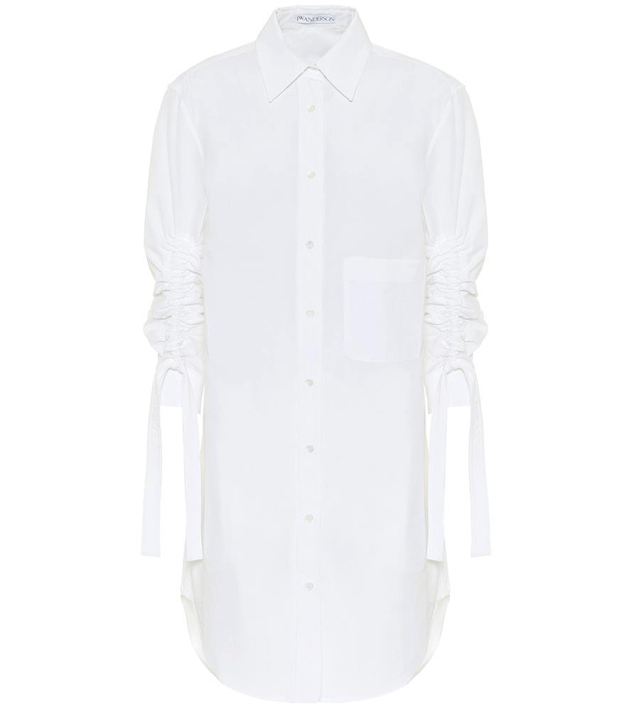 Cotton shirt midi dress