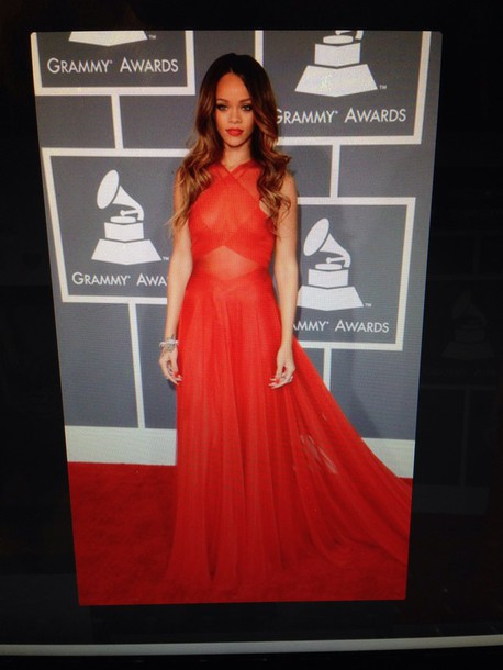 dress prom red gown celebrity