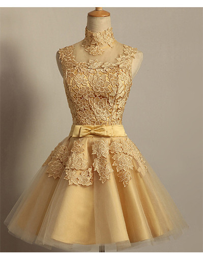 Lace glow gold dress dresses sexy tule backless prom evening