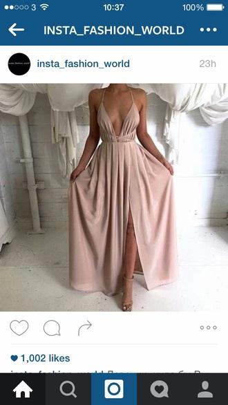 dress nude cream rose gold tumblr