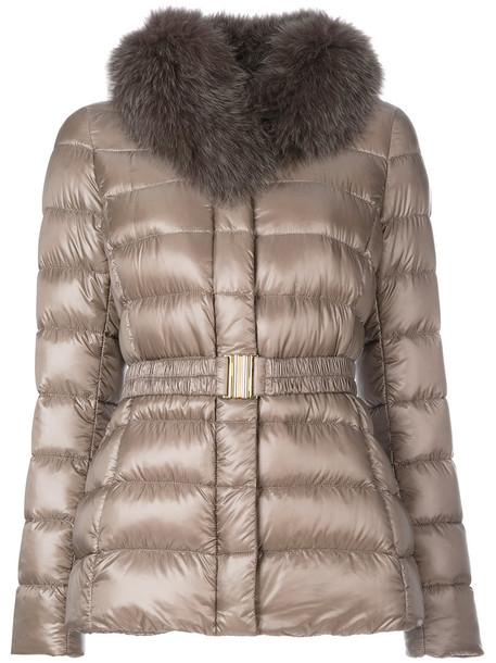 Herno jacket fur fox women cotton grey
