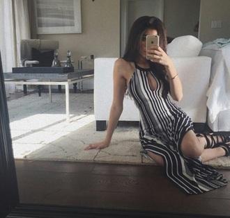 dress black and white stripes madison beer