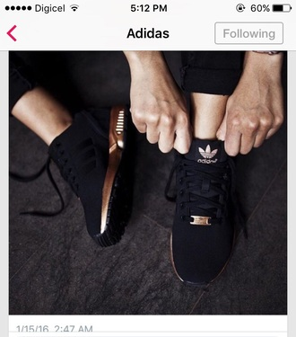 shoes black and rose gold