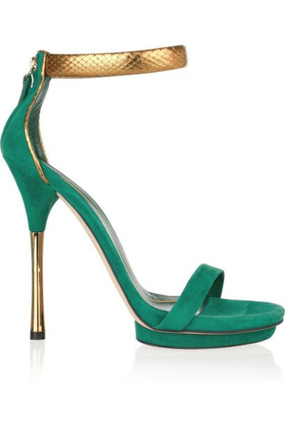 4213307976f6 shoes gucci heels green barely there heels gold ankle strap heels green  heels suede heels ankle