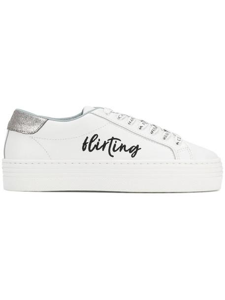 Chiara Ferragni women sneakers leather white cotton shoes