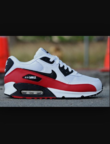 shoes white sport red black nike air max 90 nike air max sneakers red white 6d136a38988a