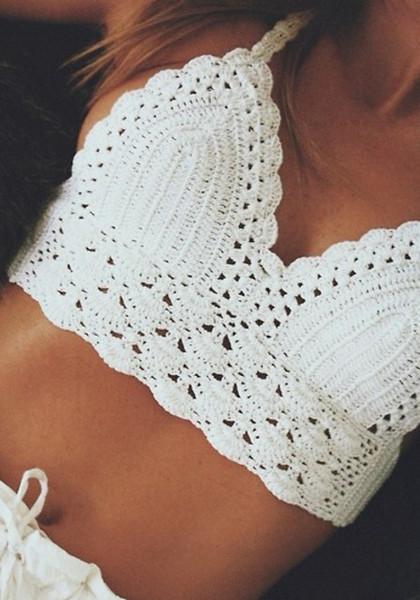 String crochet bralette top