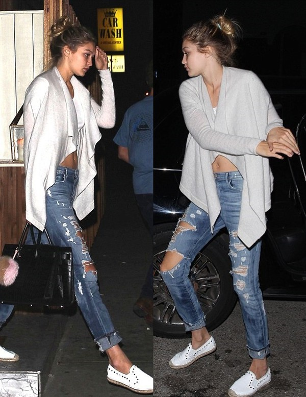 cardigan gigi hadid jeans