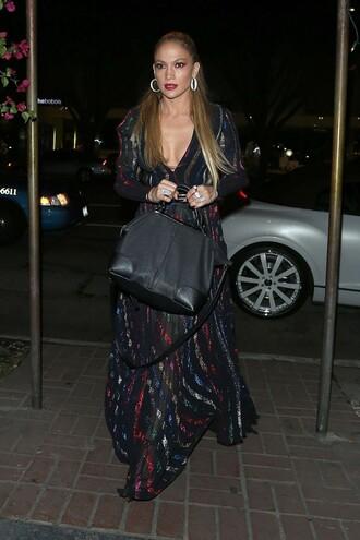 dress gown plunge v neck jennifer lopez maxi dress bag