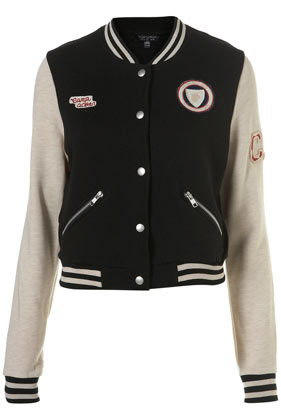 Baseball Bomber Jacket - Jackets & Coats  - Clothing  - Topshop