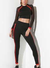 jumpsuit,girly,leggings,two-piece,black,red,mesh,workout,workout leggings,crop tops,crop,cropped