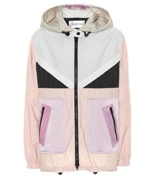 Valentino Cotton-blend jacket in pink
