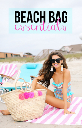 southern curls and pearls blogger swimwear jewels bag shoes