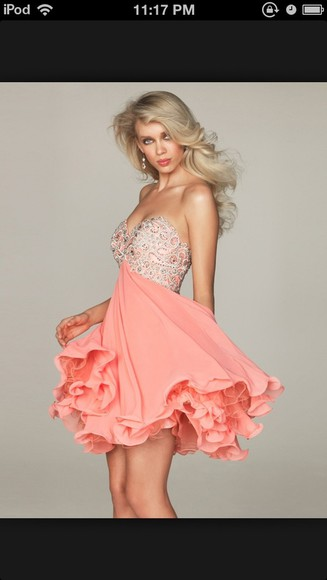 dress pink pink dress formal dresses bling prom dress