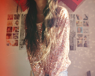 shirt glitter oversized sweater